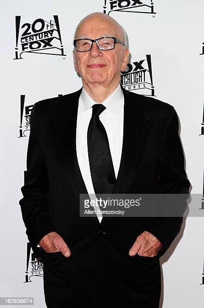 Media mogul Rupert Murdoch attends the 20th Century FOX and FOX Searchlight Academy Award Nominees Party at Lure on February 24 2013 in Hollywood...