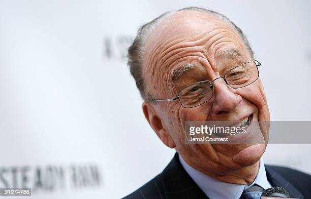 Media Mogul Rupert Murdoch attends the 'A Steady Rain' Broadway opening night at the Gerald Schoenfeld Theatre on September 29 2009 in New York City