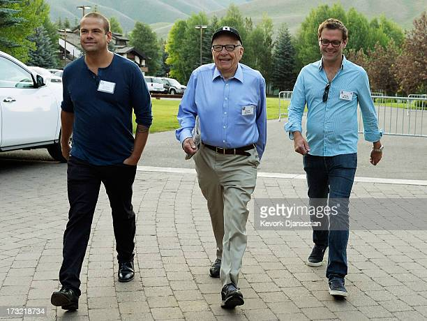Media mogul Rupert Murdoch executive chairman of News Corporation and chairman and CEO of 21st Century Fox; James Murdoch, son of Rupert Murdoch and...