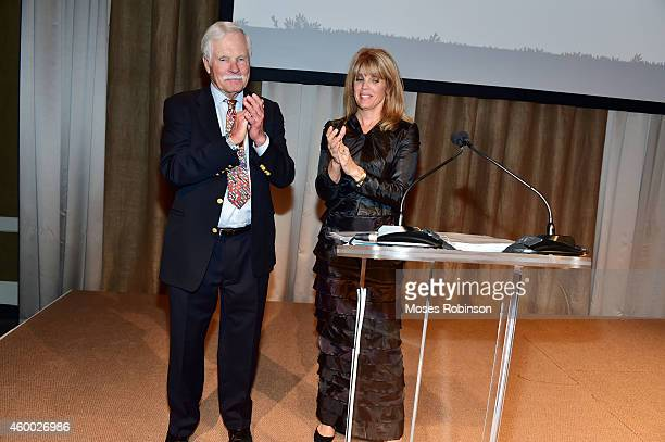 Media Mongul Ted Turner and his daughter Laura Turner Seydel attend the Captain Planet Foundation Gala at Intercontinental Buckhead on December 5...