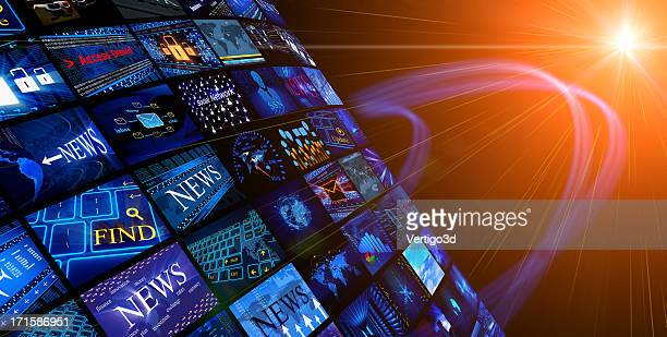 media news concept - multimedia stock photos and pictures