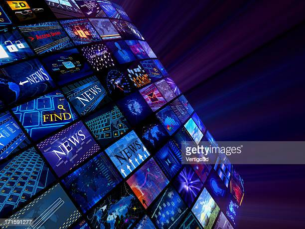 Notícias conceito de meios de comunicação social