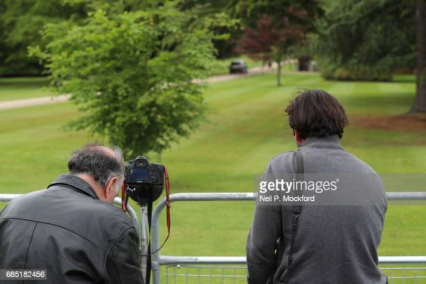 Media outside St Mark's Church ahead of the Wedding of Pippa Middleton and James Matthews on May 19 2017 in Englefield Berkshire