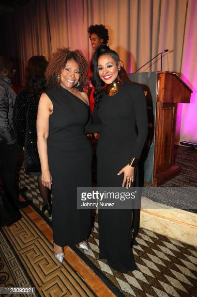 Media personalities Ann Tripp and Janell Snowden attend the AFUWI 22nd Annual Legacy Awards Gala at The Pierre Hotel on February 27 2019 in New York...