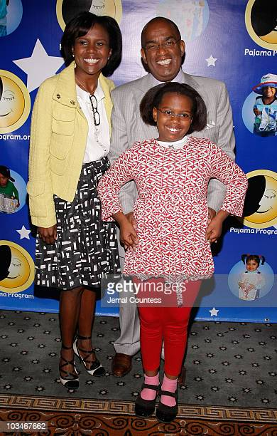 Media personalities Deborah Roberts and Al Roker with daughter Leila Roker at the 6th Annual Pajama Program Awards Luncheon at the Pierre Hotel on...