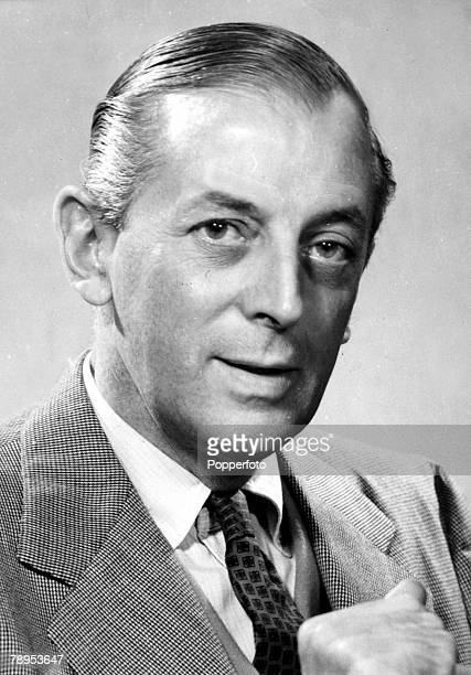 November 1957 Alistair Cooke US Journalist and Broadcaster portrait