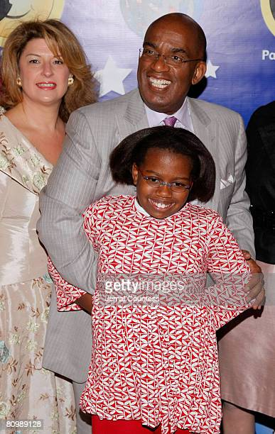 Media personality Al Roker with daughter Leila Roker and Jacky Teplitzky at the 6th Annual Pajama Program Awards Luncheon at the Pierre Hotel on May...