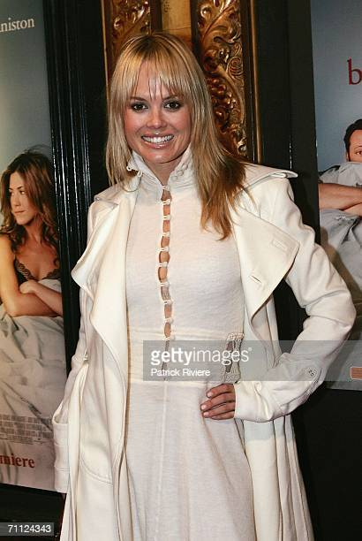 Media personality Amy Erbacher attends 'The BreakUp' Australian Premiere at the State Theatre on June 5 2006 in Sydney Australia