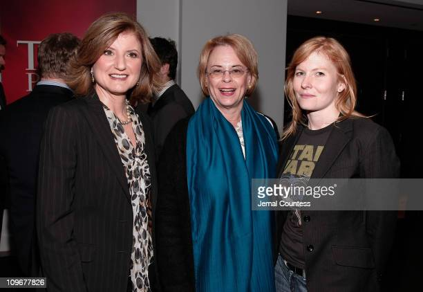 Media Personality Arianna Huffington with Ann Moore and Ana Marie Cox at the Time Person of The Year Luncheon at the Time Life Building on November 8...