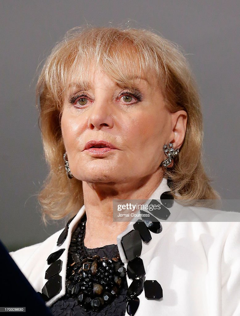 Media personality Barbara Walters speaks after receiving her 'Made In NY Award' at the 8th Annual 'Made In NY Awards' at Gracie Mansion on June 10, 2013 in New York City.