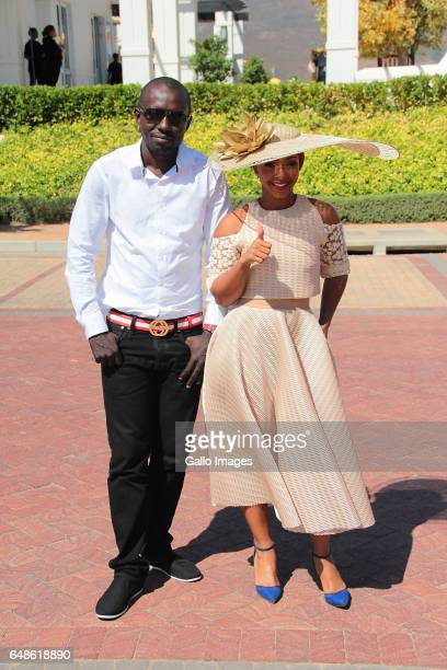 Media personality Boity Thulo and an attendee during the 2017 Veuve Clicquot Masters Polo at the Val de Vie Estate on March 04 2017 in Cape Town...