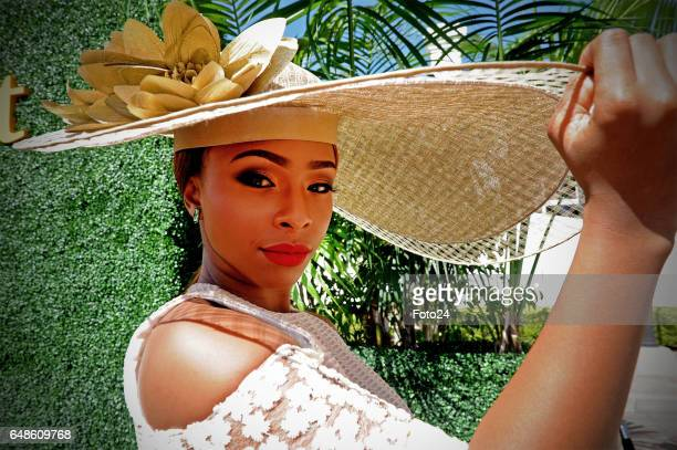 Media personality Boity Thulo during the 2017 Veuve Clicquot Masters Polo at the Val de Vie Estate on March 04 2017 in Cape Town South Africa The...