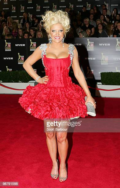 Media personality Brynne Edelsten arrives at the 52nd TV Week Logie Awards at Crown Casino on May 2 2010 in Melbourne Australia