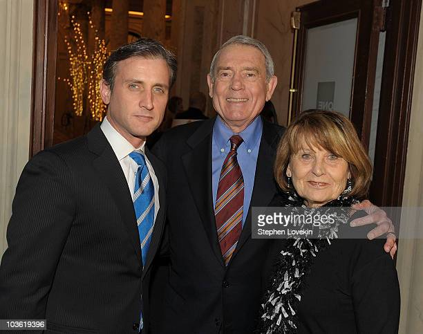 Media personality Dan Abrams media personality Dan Rather and Jean Goebel attend the launch of Mediaite at The Edwardian Room at The Plaza on...