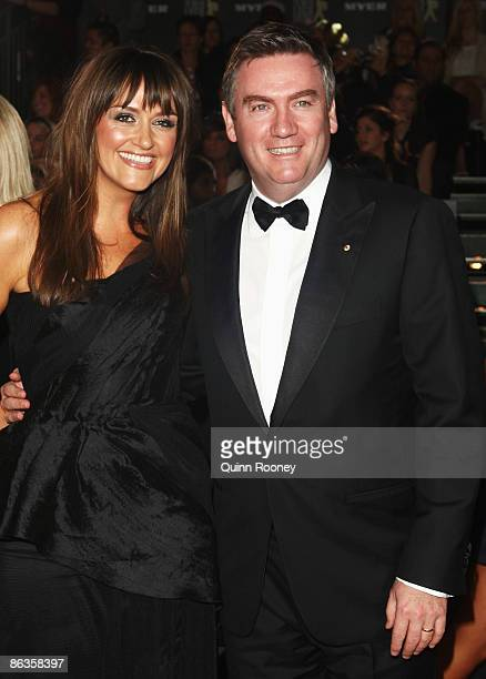Media personality Eddie McGuire and his wife Carla arrives for the 51st TV Week Logie Awards at the Crown Towers Hotel and Casino on May 3 2009 in...