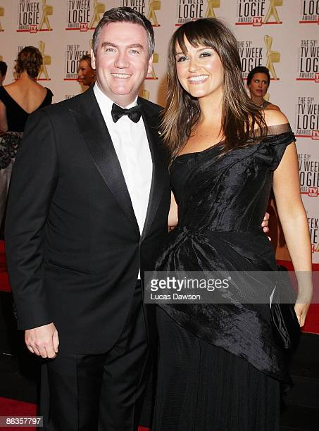 Media personality Eddie McGuire and his wife Carla McGuire arrive for the 51st TV Week Logie Awards at the Crown Towers Hotel and Casino on May 3...