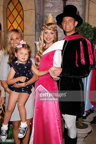 Media personality Elisabeth Hasselbeck and daughter Grace Hasselbeck with Princess Aurora and Prince Phillip at the 50th Anniversary Release of the...