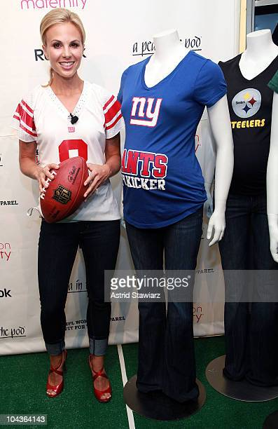 Media personality Elisabeth Hasselbeck attends Reebok NFL's Maternity Tee Belly Bowl launch at Destination Maternity on September 22 2010 in New York...