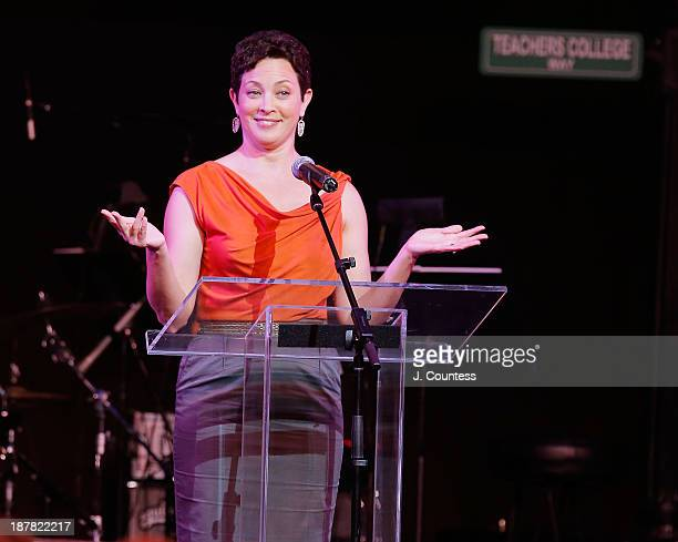 Media personality Ellie Krieger attends the Teachers College 125th Anniversary celebration gala at The Apollo Theater on November 12 2013 in New York...