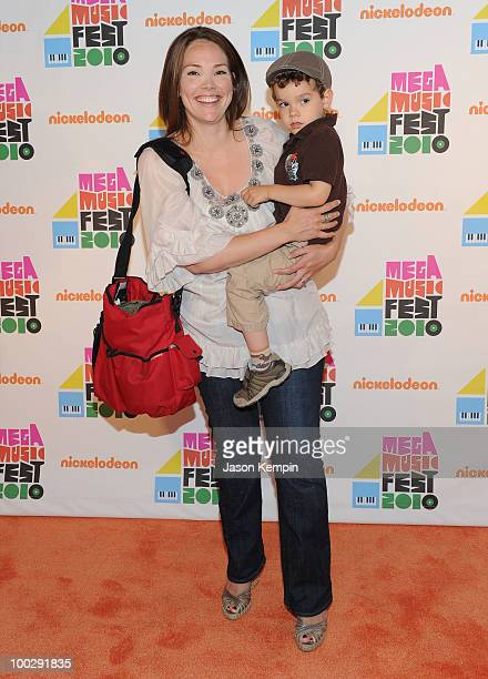 Media personality Erica Hill and Weston Hill attend Nickelodeon's Mega Music Fest at the Brooklyn Academy of Music on May 22 2010 in the Brooklyn...