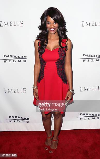 Media personality Germany Kent attends the premiere of Dark Sky Films' Emelie at Arena Cinema Hollywood on March 4 2016 in Hollywood California