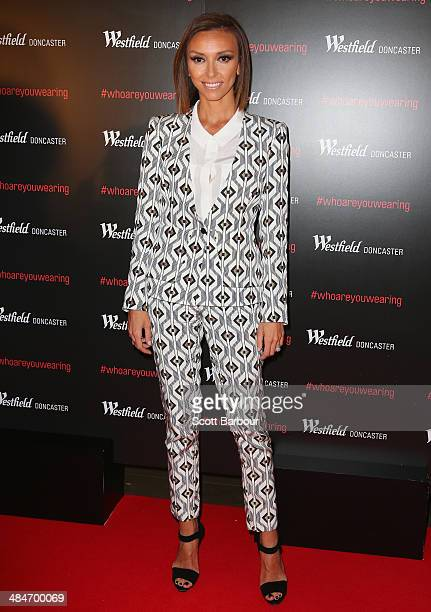 Media personality Giuliana Rancic arrives at a red carpet event at Westfield Doncaster on April 14 2014 in Melbourne Australia
