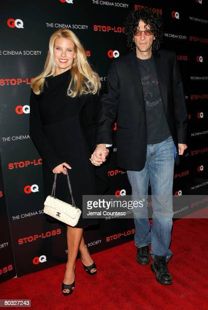 Media personality Howard Stern and Beth Ostrosky attend the New York Premiere screening of StopLoss hosted by The Cinema Society and GQ at the IFC...