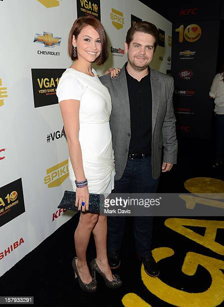 Media personality Jack Osbourne and Lisa Stelly arrive at Spike TV's 10th annual Video Game Awards at Sony Pictures Studios on December 7, 2012 in...