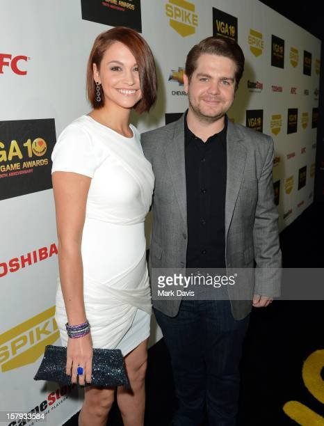 Media personality Jack Osbourne and Lisa Stelly arrive at Spike TV's 10th annual Video Game Awards at Sony Pictures Studios on December 7 2012 in...