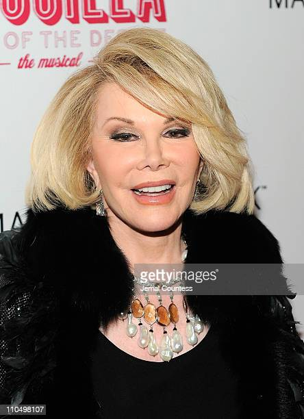 Media personality Joan Rivers attends the Broadway opening night of Priscilla Queen of the Desert The Musical at the Palace Theatre on March 20 2011...