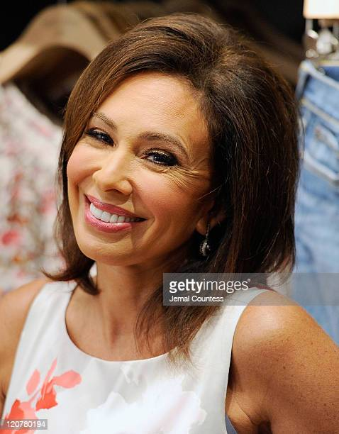 Media personality Judge Jeanine Pirro attends the Love is Not Abuse iPhone app launch at the Lucky Brand Store on August 10, 2011 in New York City.