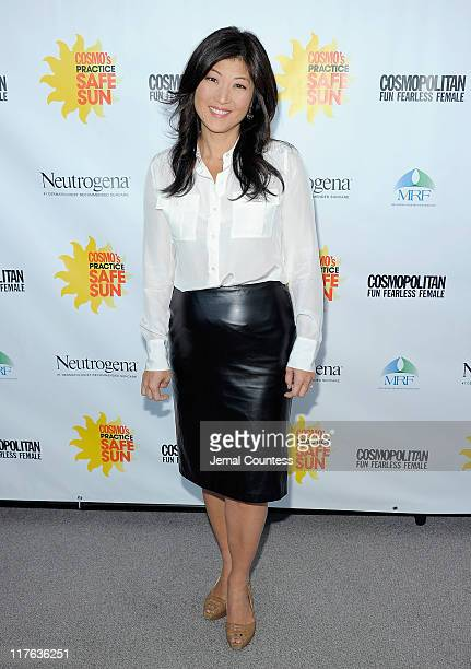 Media personality JuJu Chang attends the 2nd Annual Cosmopolitan Magazine Practice Safe Sun Awards at Hearst Tower on June 29 2011 in New York City