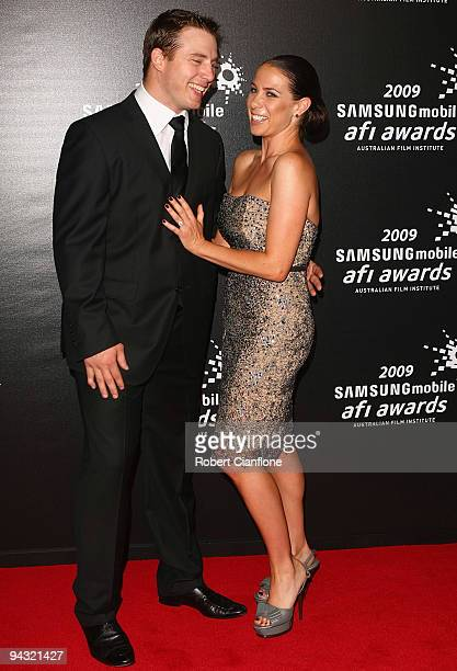 Media personality Kate Ritchie and partner Stuart Webb arrive for the 2009 Samsung Mobile AFI Awards at the Regent Theatre on December 12, 2009 in...