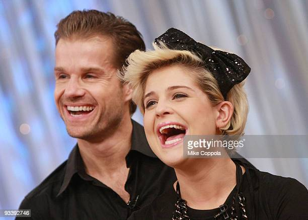 Media personality Kelly Osbourne and partner Louis Van Amstel dance on ABC's 'Good Morning America' at ABC Studios on November 25 2009 in New York...