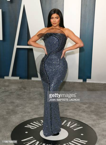 US media personality Kylie Jenner attends the 2020 Vanity Fair Oscar Party following the 92nd Oscars at The Wallis Annenberg Center for the...