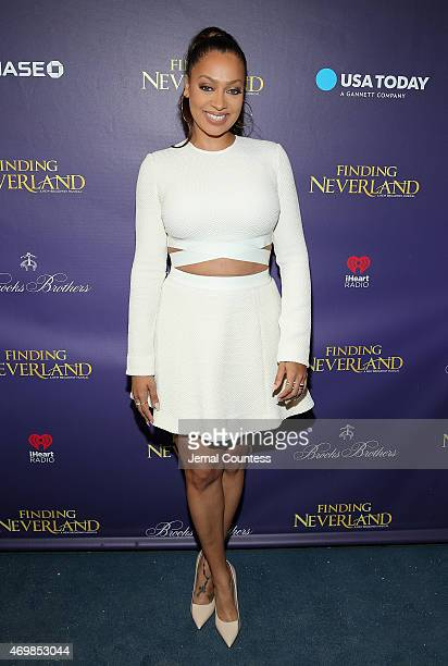 Media personality LaLa Anthony attends the opening night of Finding Neverland at LuntFontanne Theatre on April 15 2015 in New York City