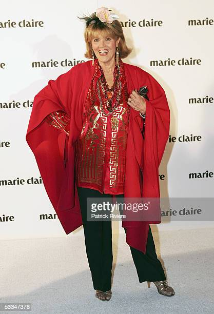 Media personality Lillian Frank attends the 10th Birthday Party of Marie Claire Magazine at the Technology Park on August 09 2005 in Sydney Australia