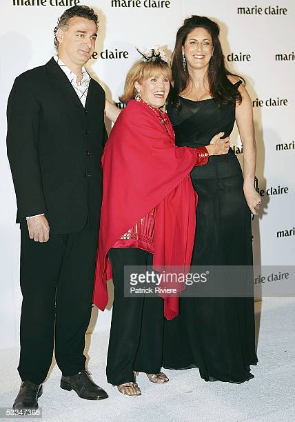 Media personality Lillian Frank attends with her daughter Jackie Frank and her husband Stephen the 10th Birthday Party of Marie Claire Magazine at...