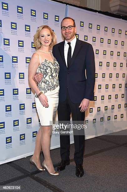 Media personality Margaret Hoover and HRC President Chad Griffin attend the 2015 Human Rights Campaign Greater New York Gala Dinnerat The...