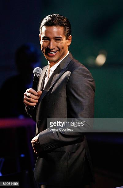 Media Personality Mario Lopez hosts The Visa Signature TONY Awards Preview Concert in the Allen Room at Jazz at Lincoln Center on May 11 2008 in New...