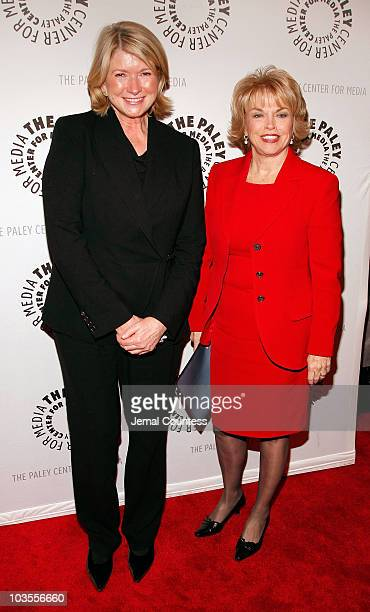 """Media Personality Martha Stewart and Patricia Mitchell, President and CEO of The Paley Center for Media attend the """"She Made It: Women Creating..."""