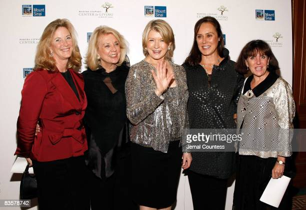 Media personality Martha Stewart poses with Julia Utsch Miriam Lewis Molly Banister and Susan during the 2008 Martha Stewart Center for Living Gala...