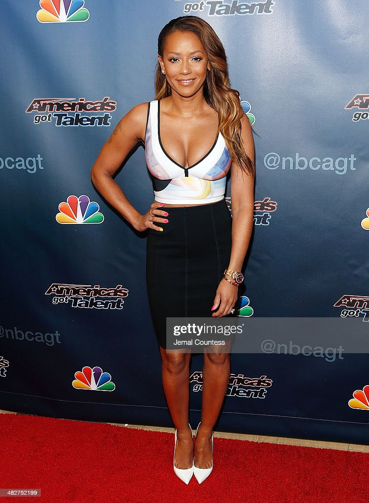Media personality Mel B attends the 'America's Got Talent' red carpet event at Madison Square Garden on April 4, 2014 in New York City.