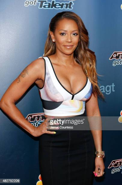 Media personality Mel B attends the America's Got Talent red carpet event at Madison Square Garden on April 4 2014 in New York City