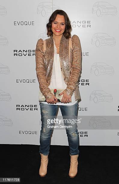 Media personality Mia Freedman attends the launch of the Range Rover Evoque on June 29 2011 in Melbourne Australia