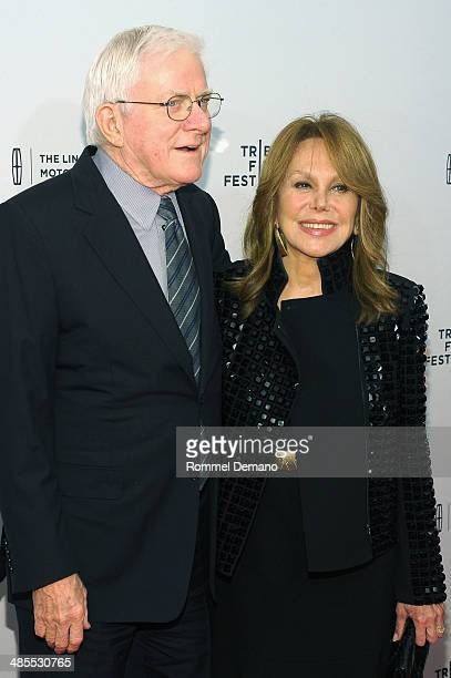 Media personality Phil Donahue and actress Marlo Thomas attend the All About Ann Governor Richards Of the Lone Star State Premiere during the 2014...
