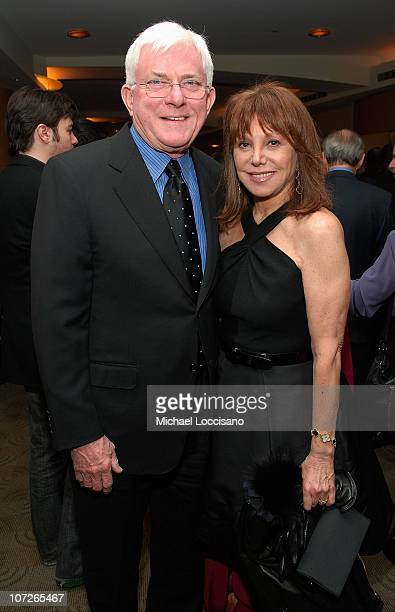Media personality Phil Donahue and wife and actress Marlo Thomas attend the HBO Documentary Films Screening of Cathouse The Musical and HBO...