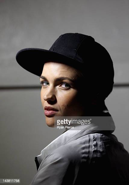 Media personality Ruby Rose poses for a portrait session before the Nike 'She Runs the Night' race on May 3 2012 in Sydney Australia