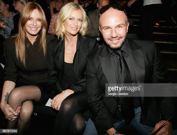 Media personality Sarah Murdoch, designer Alex Perry and media personality Charlotte Dawson pose at the Diet Coca-Cola Little Black Dress Show on the...