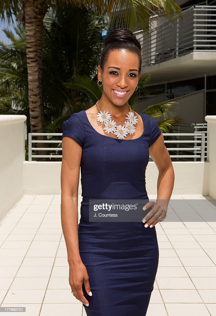 Media personality Shaun Robinson poses during the 2013 American Black Film Festival on June 20, 2013 in Miami, Florida.